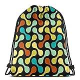 Jhonangel Bolso de Hombro de Color con Mancuernas Mochila con cordón Ligero para Mujeres 36 x 43 cm / 14.2 x 16.9 Pulgadas