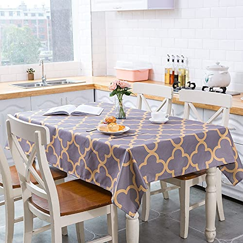 XXDD Mantel Impermeable de polígono geométrico de Estilo nórdico Fresco para decoración de cocinas para el hogar Mantel A6 140x140cm