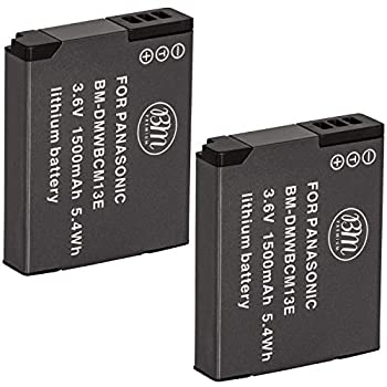 BM Premium 2 Pack of DMW-BCM13E Batteries for Panasonic Lumix DC-TS7 DMC-FT5A LZ40 TS5 TS6 TZ37 TZ40 TZ41 TZ55 TZ60 DMC-ZS27 DMC-ZS30 DMC-ZS35 DMC-ZS40 DMC-ZS45 DMC-ZS50 Digital Cameras
