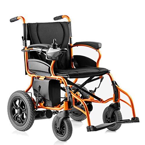 GJZhuan Leichte Doppelfunktion Motorisierter Rollstuhl Tragbares Elektro-Rollstuhl Folding, Intelligent Joystick Ultraleichter Lithium-Batterie Praktische Elektro-Rollstuhl