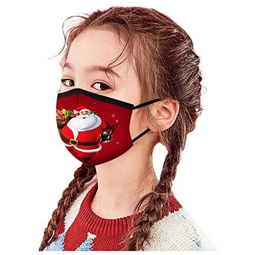 Wokee Niños Navidad m_ascarillas Reutilizables Dibujos Lavables Antipolvo impresión de Elementos de teñido...