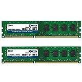LEVEN DDR3 4GB (2GB×2) 1600MHz PC3-12800 CL11 Unbuffered Non-ECC 1.35/1.5V UDIMM 240 Pin PC Computer Desktop Memory Module Ram Upgrade- Lares(JR3UL1600172308-2Mx2)