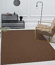 Mia's Lara - Alfombra para Interior y Exterior, Tejido Plano, 120x 170cm, Color marrón