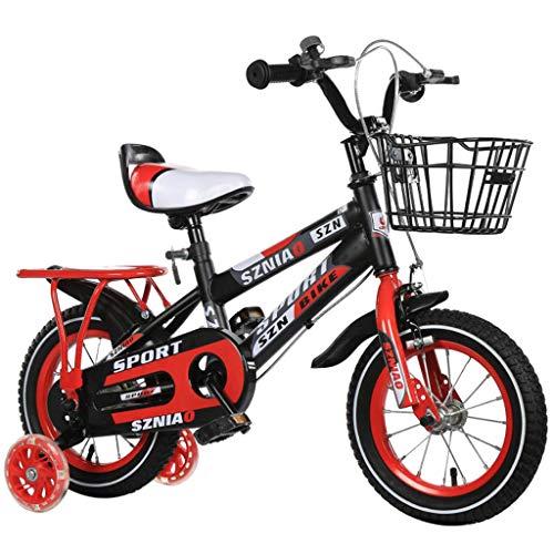 SHUANGA Kinder fahrrad mit Kinderwagen für Männer und Frauen Trainingsrad 18 ZollKinderfahrrad mit Rücksitz für Männer und Frauen Kinderwagen Fahrrad 18 Zoll