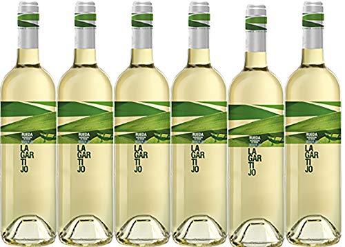 Lagartijo Verdejo Vino Blanco D.O Rueda-6 botellas de 750 ml - (Total: 4,5 L) BODEGA CUATRO RAYAS