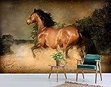 3D Horse Galloping 380 Animal Wall Print Decal Wall Deco Mural de pared extraíble   Papel pintado grande autoadhesivo AJ UK Acmy (papel de fibra de vidrio), 208 x 146 cm (ancho x alto).