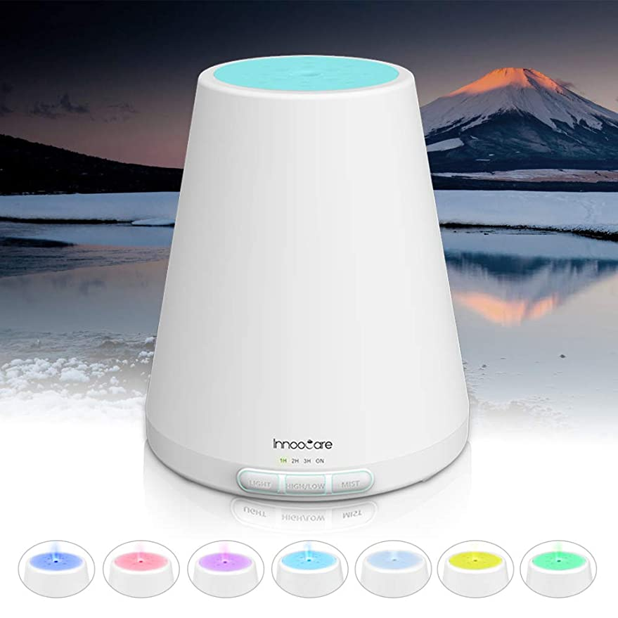 アロマディフューザー 300ml, ディフューザー アロマ加湿器, アロマでぃふゅーざー超音波 空気清浄機 7色変換LED