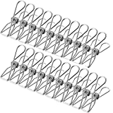 NORTHERN BROTHERS 60 Pack Mini Clothespins Stainless Steel Wire Clothes Pins Heavy Duty Outdoor Utility Clips