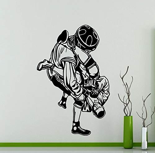 Tianpengyuanshuai Warrior Wall Sticker Extreme Fighting Sports Martial Arts Vinyl Decal Decoración del hogar 63X93cm