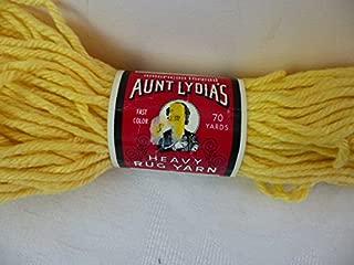 Aunt Lydia's Heavy Rug Yarn Art. 235, #222 Yellow