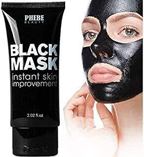 Best Phebe Black Mask Blackhead Remover Purifying Peel Off Mask Activated Charcoal Mask Deep Cleansing Acne removal Nose Face Pore Cleaner 1 Tube(1.76 fl oz) Review