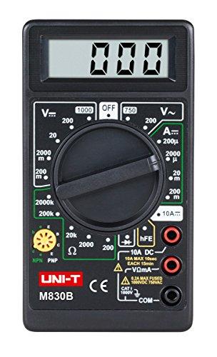 UNI-T M830B LCD Digital Multimeter, Voltmeter, Strom Messgerät AC/DC