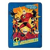 Disney-Pixar Incredibles 2, 'Family Heroes' Micro Raschel Throw Blanket, 46' x 60', Multi Color, 1 Count