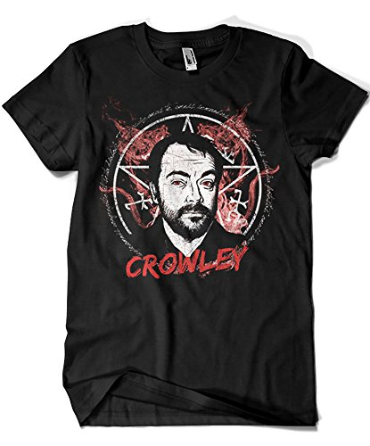 3502-Camiseta Supernatural - Crowley (Ursula Lopez)