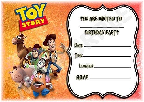 Disney Toy Story Geburtstag Party lädt–Jumping Landschaft Design–Party Supplies/Zubehör (12Stück EINLADUNGEN) WITH Envelopes