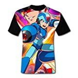 maichengxuan T-Shirts à Manches Courtes, T-Shirt Short Sleeve Mega-Man X Legacy Collection 1 Tee Shirt Graphic Tshirt for Men&Women