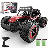 BEZGAR Remote Control Car, 1:14 Aluminium Alloy Off Road Large Size Kids High Speed Fast Racing Monster Vehicle Hobby Truck Electric Hobby Toy with Two Rechargeable Batteries for Boys Teens Adults