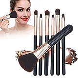 Yuyanshop Juego de 7 brochas de maquillaje, juego de herramientas de maquillaje, cepillo profesional para cejas en polvo de ojos, siete tipos de pinceles