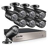 ZOSI 1080p Caméra de Surveillance Extérieure IP66 avec Enregistreur 8CH 1080N App Gratuite pour Accès Via...