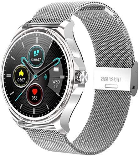 Smart Watch 1 3 pulgadas de alta definición táctil Ips pantalla a color entrante mensaje de llamada recordatorio de llamada Bluetooth llamada para Android y Ios-plata acero