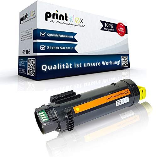 Print-Klex Tonerkartusche kompatibel für Xerox WorkCentre 6515DN 6515DNI 6515DNIS 6515DNM 6515DNMIS 6515DNS 6515N 6515NS 6515Series 106R03479 Gelb Yellow - Color Light Serie