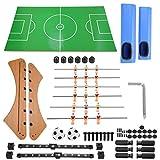 LeKu Mesa de futbolín Mesa de futbolín clásica Pelota de fútbol pateador de fútbol Juego Familiar Tablero de Juguete para niños