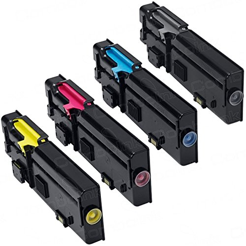 Encre Breiz Pack of 4 Toner Cartridges Compatible with Dell C 3760 3765 dn dnf n