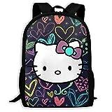 Mei-shop Mochila Informal Lovely Hello-Kitty Print Zipper School Bag Travel...