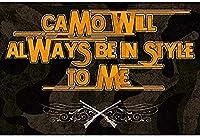 カモフラージュはいつも私にスタイリッシュになりますブリキサインヴィンテージ鉄絵メタルプレートパーソナリティノベルティ