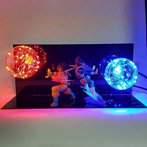Dragon Ball Z Vegeta Son Goku Super Saiyan Fighting Together Led Lighting Anime Dragon Ball Z Vegeta Goku Model Toy DBZ image