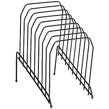 Amazon Basics 8-Tier Wire Step File Organizer Black 2-Pack