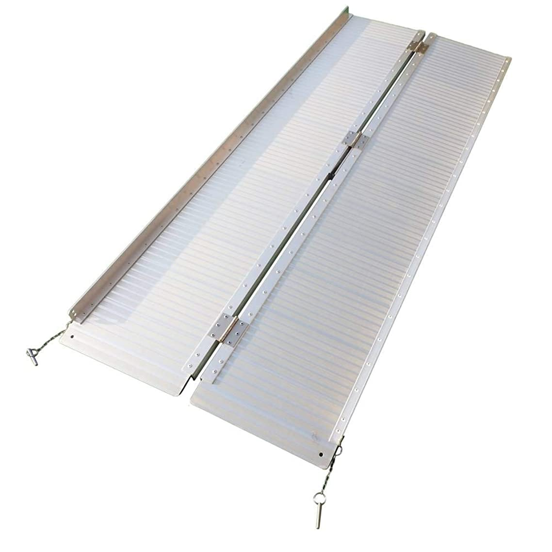 Binlin Threshold Ramps,2'-10' Portable Folding Aluminum Wheelchair Threshold Ramp with Ribbed Surface and Carrying Handle