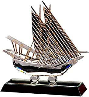 Crystal Asfour 200/232 Crystal Boat Decor - Transparent