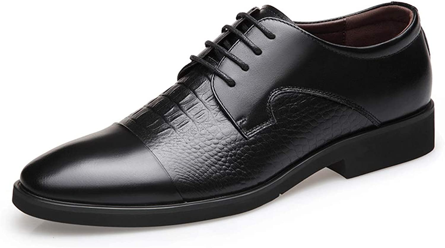 Mens Leather shoes Black Casual Flat Loafers Fashion Slip On Driving shoes Business Formal Leather shoes,Black,44
