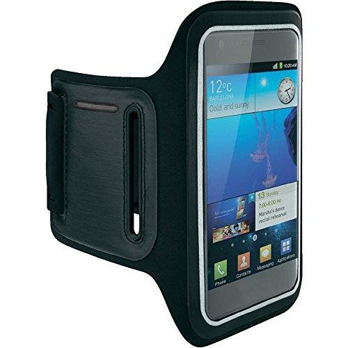 MM-Mobitec Jogging Sportarmband kompatibel mit OnePlus 7 Pro Reflektierendes Neopren Fitness Armband Wasserfestes mit Schlüsselfach und Touchfunktion, Schweißresistent, Abwaschbar