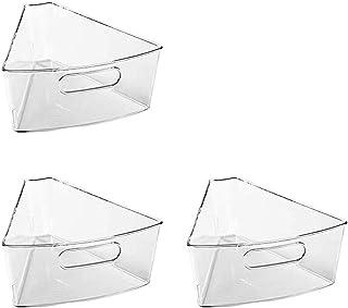 Senmubery Armoire de cuisine en plastique avec poignée avant - 3 paquets - Transparent