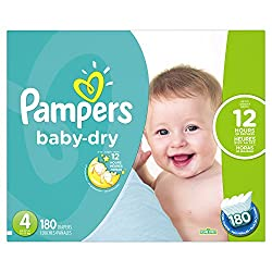 Pampers Baby-Dry Disposable Diapers - Best overnight diapers