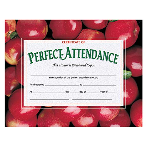 Hayes H-VA513BN Certificate of Perfect Attendance, 8.5