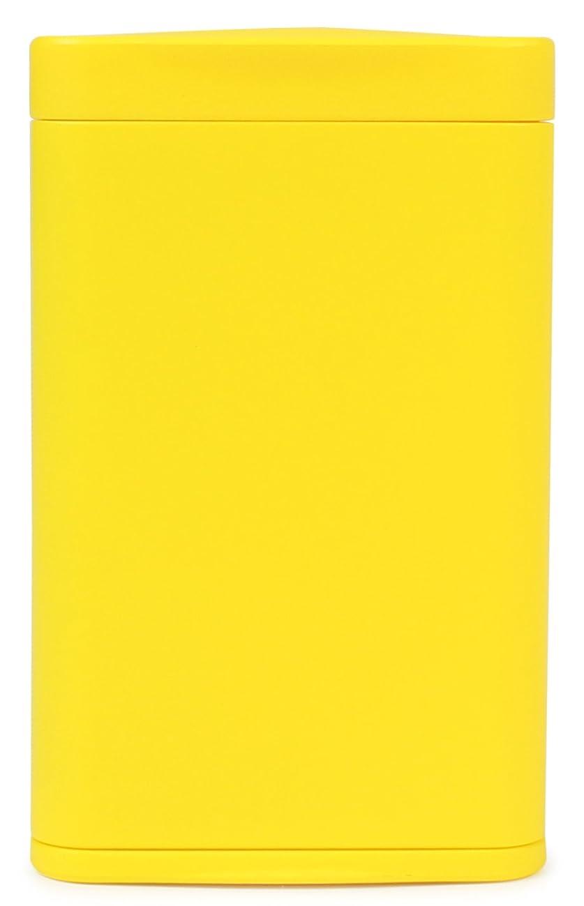 ベギン限界スカルクWINDMILL(ウインドミル) 携帯灰皿 ハニカムスリム スライド式 4本収納 イエロー 599-1001