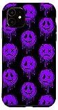 iPhone 11 Melting Happy Face Smile Trippy Acid House Sad Graffiti Case