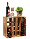 Geflammtes Weinregal für bis zu 16 Flaschen 40x40x27 cm Kistenkolli Altes Land Wein Regal | Flaschenregal - 3