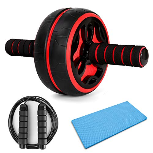 Odoland AB Roller Set 3 IN 1 Bauchtrainer und Springseil für Fitness Bauchmuskeltraining Muskelaufbau