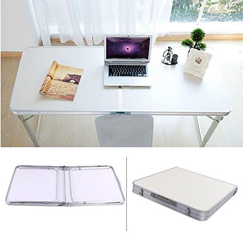 Aluminium klaptafel, campingtafel, vouwtafel, 120 x 70 x 60 cm, tuintafel, koffertafel