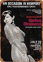 なまけ者雑貨屋 アメリカン 雑貨 ナンバープレート Barbra Streisand in Rhode Island ヴィンテージ風 ライセンスプレート メタルプレート ブリキ 看板 アンティーク レトロ