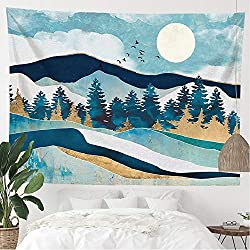 Blue Mountain Landscape tapestry for guys room