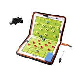 Wrzbest Football Soccer Coaches Magnetic Tactic Board,Dry Erase Coaching Clipboard,Foldable and Portable Coach...