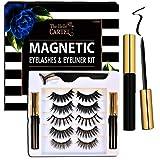 The Belle Cartel Magnetic Eyelashes with Eyeliner, Magnetic Eyelashes and Liner Set, Big Magnetic Lashes, Magnetic Lashes Dramatic, Long Magnetic Lashes, Party Eyelashes, No Glue (Cabaret - 5 Pairs)