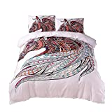 Meeting Story 3PCS Animals Horse Printed Duvet Cover Set, Microfiber Bedding Set (Queen, Horse)