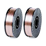 WeldingCity 2 Rolls of ER70S-6 ER70S6 Mild Steel MIG Welding Wire 11-Lb Spool 0.035' (0.9mm)
