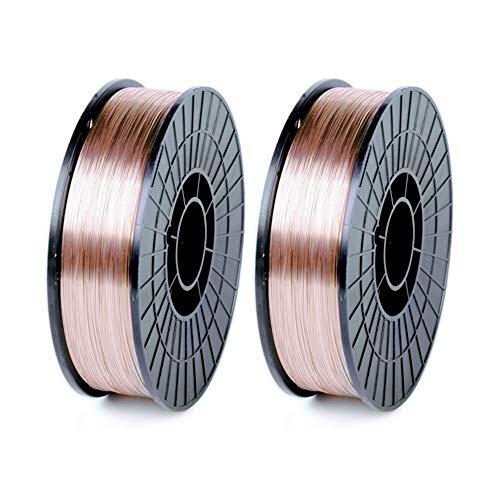 """WeldingCity 2 Rolls of ER70S-6 ER70S6 Mild Steel MIG Welding Wire 11-Lb Spool 0.030"""" (0.8mm)"""